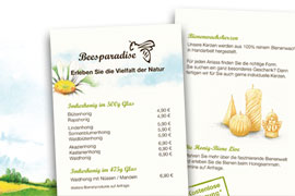 Flyer Beesparadise, Illustrationen