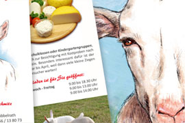 Ziegenhof Illustration Flyer Etiketten